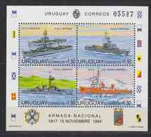 Uruguay 1994 Navy Day / Ships M/s ** Mnh (41385) - Uruguay