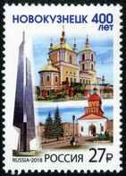 Russia 2018 - One 400th Anniversary City Novokuznetsk Places Regions Celebrations Architecture Church Tourism Stamp MNH - Celebrations