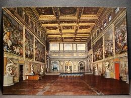 (FG.O13) FIRENZE - PALAZZO VECCHIO - SALONE DEI CINQUECENTO (viaggiata 1966) - Firenze