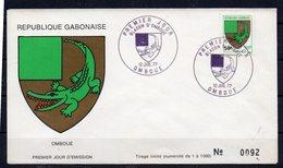 Gabun: 2 Sonderstempel Von 1977 - Gabun (1960-...)