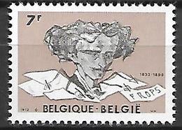 BELGIQUE     -  1973  .  Y&T N° 1688 * .  Le  Peintre  Félicien  Rops - Unused Stamps
