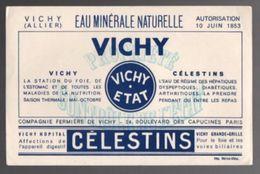 Buvard Eau Minérale Naturelle Vichy Célestins - Buvards, Protège-cahiers Illustrés
