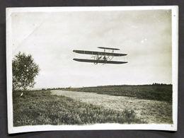 Fotografia Originale Aeronautica - De Lambert Su Biplano Fratelli Wright - 1909 - Photographs