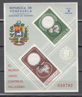 Venezuela 1962, 1 Block,;malaria,padulisme,paludismo,mosquito,mug,moskito,moustique,zanzara,MNH/Postfris(L3363) - Maladies