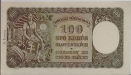 SLOVAKIA P. 11a 100 K 1940 AUNC - Slovaquie