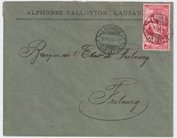 """1900, UPU, Zentr. Rasierklingen-Stp. """" LAUSANNE """"  , #a1467 - 1882-1906 Wappen, Stehende Helvetia & UPU"""
