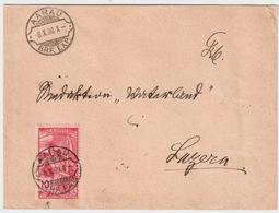 UPU, 10 C. Rasierklingen-Stp. , Mit Plattenfehler  , #a1468 - 1882-1906 Wappen, Stehende Helvetia & UPU