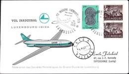 Luxair Vol Inaugural Luxembourg-Ibiza 15.5.1972, Prifix: LX20: Valeur Catalogue: 5€ - Briefe U. Dokumente