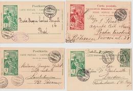 UPU, 1900, Rasierklingen-Stp. , 4 GA , #a1469 - 1882-1906 Armarios, Helvetia De Pie & UPU