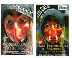 Zakkalender 2 Stuks:pcs Vielsalm Heksen Sorcières  Calendrier De Poche Pocket Calendrier Taschenkalender Kalender - Calendriers
