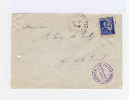 Sur Enveloppe 90 C Outremer Oblitéré Charente 30 Novembre 1939. Cachet Régiment La Braconne. CAD Graulhet. (899) - Marcophilie (Lettres)