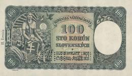 SLOVAKIA P. 11s 100 K 1940 UNC - Slowakei