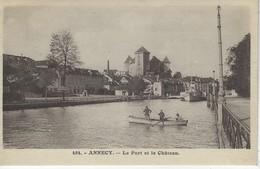 74 (  Haute Savoie ) - ANNECY - Le Port Et Le Chateau - Annecy