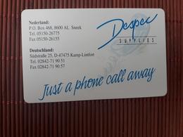 Phonecard Netherlands Despec Suplies CRE 044 (Mint,Neuve) Rare - Netherlands