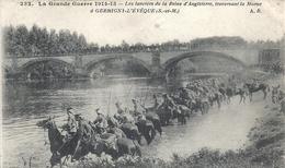 SEINE ET MARNE - 77 - GERMIGNY - L'EVEQUE - Les Lanciers De La Reine D'Angleterre Traversant La Marne - Autres Communes