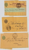 1902-06, 3 Streifbänder, Je Klarer Rasierklingen-Stp.  , #a1472 - 1882-1906 Armarios, Helvetia De Pie & UPU