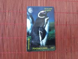 Phonecard Bird Falkland Island NO 1CWFB Used Some Marks Of Use On Front  Used - Falkland Islands