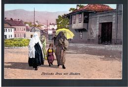 BOSNIA Sarajevo Türkische Frau Mit Kindern Ca 1915 OLD POSTCARD 2 Scans - Bosnia And Herzegovina