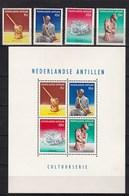 Nederlandse Antillen - Cultuurzegels - Maisstamper/bentaspeler//hoofddoek/jaja Met Kind - MH - NVPH 325-329 - Curaçao, Nederlandse Antillen, Aruba