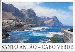 CAPO VERDE - SANTO ANTAO  - VIAGGIATA 1997 FRANCOBOLLO ASPORTATO - Capo Verde