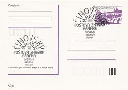I0306 - Tschechoslowakei (1991) Praha 1: Postmuseum, Martin Cinovsky - Grafik Und Briefmarke (Ausstellung) - Post