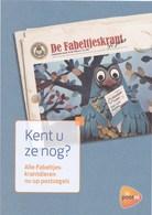 Nederland - Brochure PostNL - Fabeltjeskrant - Meneer De Uil - Uil/owl/chouette/Eule - 4 Pagina's - Propaganda