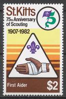 St.Kitts 1982 Mi# 92** SCOUTING, 75th ANNIV. - St.Kitts-et-Nevis ( 1983-...)