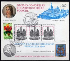 Italia 1989 Erinnofilo I.P.Z.S. Ipzs Senigallia Corinaldo Con Annullo Speciale Corinaldo - Erinnofilie