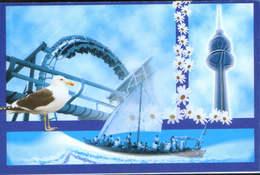 Kuwait - Postcard Unused  - Collage Of Images ( Seagull ) - Kuwait