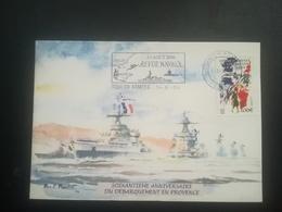 CP Revue Navale Du 15.08.04 Cachet Toulon Armées - Stamps