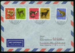 BR Schweiz   1973 Lupo Brief Von Bern Nach Gran Canaria, Playa Del Ingles ( Pro Juventute ) - Svizzera