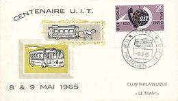 DC-1415 - FDC 1965 - 100 YEARS TELECOMMUNICATION ITU - UIT - MORSE TELEPHONE TELEGRAPH SATELLITE - BELGIUM - Telecom