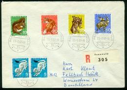 BR Schweiz   1967 Reco Brief Von Sennwald Nach BRD, Fellbach ( Pro Juventute ) - Svizzera