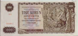 SLOVAKIA P. 13s 1000 K 1940 AUNC - Slovaquie