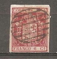 1854- Yv. N°  24  (o)  6c  Armoiries Cote  1,8 Euro BE   2 Scans - 1850-68 Regno: Isabella II