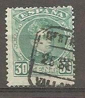 1901   Yv. N° 219  (o)   30c    Alphonse XIII   Cote  2 Euro  BE   1 Scans - Gebraucht