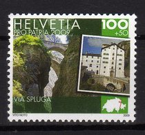 Svizzera Suisse Helvetia 2009 Pro Patria Via Spluga 1 Val. Nuovo - Ungebraucht