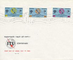 DC-1429 - FDC 1965 - 100 YEARS TELECOMMUNICATION ITU - UIT - MORSE TELEPHONE TELEGRAPH SATELLITE - ETHIOPIA - Ethiopia