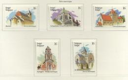 PIA  -  BELGIO  -  1994  : Serie  Turistica  - (Yv  2555-59) - Belgique