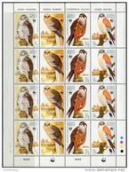 Malta 1991. Michel #864/67 MNH/Luxe. WWF. Raptors. Klb. (Ts02/B49) - Nuevos