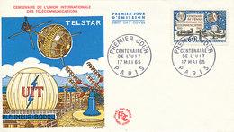 DC-1435 - FDC 1965 - 100 YEARS TELECOMMUNICATION ITU - UIT - MORSE TELEPHONE TELEGRAPH SATELLITE - FRANCE - Telecom