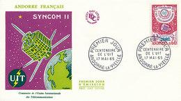 DC-1438 - FDC 1965 - 100 YEARS TELECOMMUNICATION ITU - UIT - MORSE TELEPHONE TELEGRAPH SATELLITE - ANDORRE - FDC