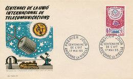 DC-1439 - FDC 1965 - 100 YEARS TELECOMMUNICATION ITU - UIT - MORSE TELEPHONE TELEGRAPH SATELLITE - ANDORRE - FDC
