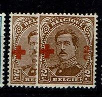 151  **  2 Nuances - 1918 Croix-Rouge