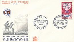 DC-1440 - FDC 1965 - 100 YEARS TELECOMMUNICATION ITU - UIT - MORSE TELEPHONE TELEGRAPH SATELLITE - ANDORRE - FDC