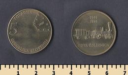 Slovenia 5 Tolarjev 1996 - Slovénie