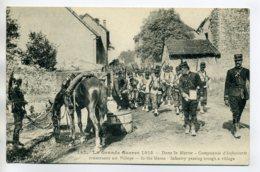 51 MARNE Grande Guerre 1914  Cie Infanterie Militaires Traversant Village  /D03-2017 - France