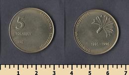 Slovenia 5 Tolarjev 1996 - Slovenia