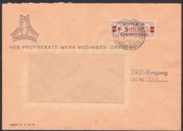 DDR ZKD-Brief B21MI Medingen Ottendorf Okrilla, VEB Prüfgeräte-Werk Nach Dresden - Servizio