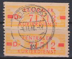 Zentraler Kurierdienst B 18ID (2) ZKD-Streifen Gest. Rostock 4.11.58, Hoher Katalogwert - Service